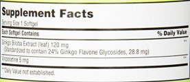 Viên Uống Bổ Não Ginkgo Biloba 120mg Trunature Của Mỹ