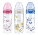 Bình Sữa Nuk Premium Choice+ Nhựa PA Cổ Rộng Núm Ti S1-M 300ml