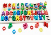 Bộ Chữ Cái Và Bảng Số Bằng Gỗ - Giáo Cụ Montessori Cho Bé