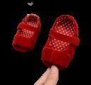 Giày Tập Đi Họa Tiết Trái Tim Đính Nơ Cho Bé