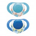 Bộ 2 Ty Ngậm Silicon Chicco Physio Compact