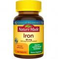 Viên Uống Bổ Sung Sắt Nature Made Iron 65mg Của Mỹ