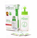 Bình Rửa Mũi Dr Green & 10 Gói Muối Cho Bé