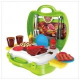 Bộ đồ chơi vali nấu ăn đồ nướng Bowa 23 chi tiết