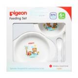 Bộ bát đĩa tập ăn mini pigeon cho bé