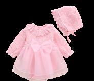 Váy voan công chúa kèm mũ cho bé gái