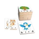 Đồ chơi gỗ ghép hình học chữ Tiếng Anh cho bé Winwintoys