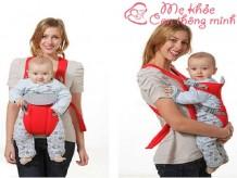 Cách sử dụng địu em bé an toàn, không làm hại con