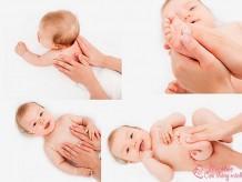 Cách mát xa cho trẻ sơ sinh giúp bé ăn ngon, ngủ ngoan