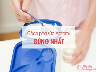 Cách pha sữa Aptamil chuẩn nhất giúp bé lên cân vù vù