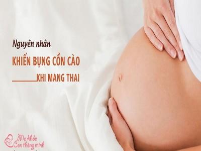 Nguyên nhân và biện pháp khắc phục tình trạng bụng cồn cào khi mang thai