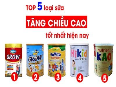 Lộ diện 5 sữa tăng chiều cao cho bé tốt nhất hiện nay