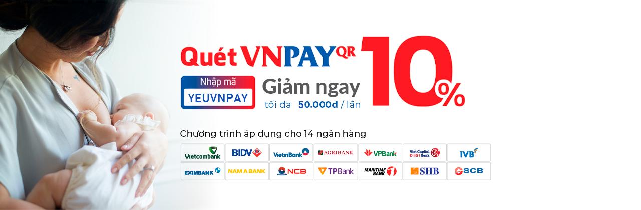 Quét VNPay QR Giảm 10%