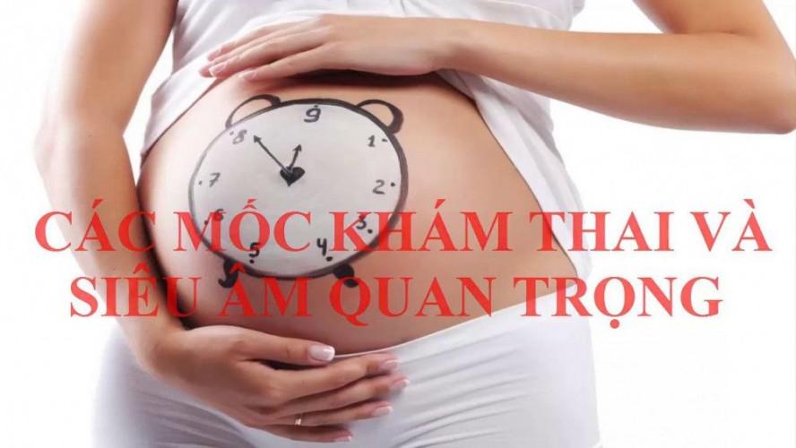 Các mốc khám thai quan trọng không thể bỏ qua