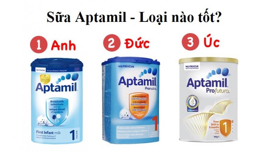 Sữa Aptamil loại nào tốt nhất? Nên cho con dùng loại nào?