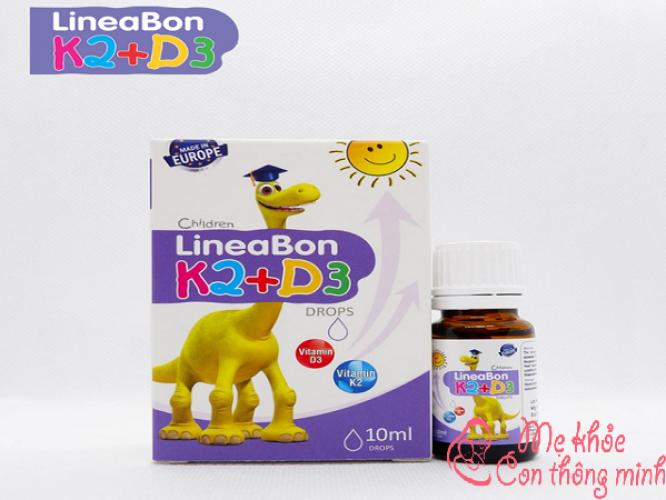 Lineabon K2+D3 có tốt không? Tác dụng tuyệt vời của Lineabon K2+D3
