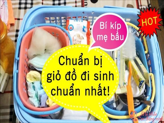 Tất tần tật những đồ dùng cần chuẩn bị đi đẻ cho mẹ và bé