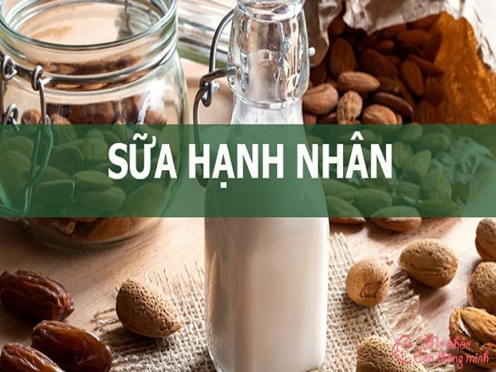 4 cách làm sữa hạnh nhân siêu ngon, siêu hấp dẫn cho bé