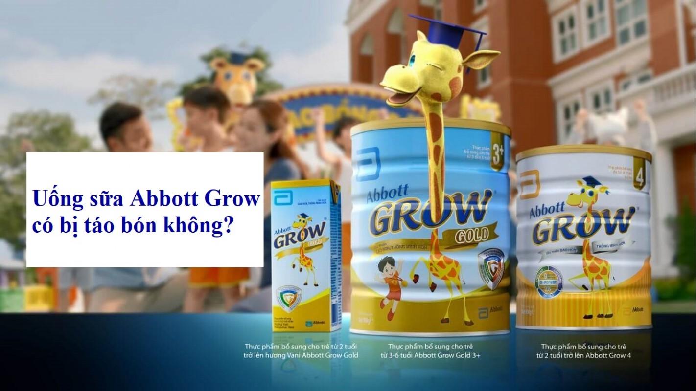 Uống Sữa Abbott Grow Có Bị Táo Bón Không?