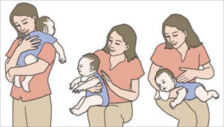 Vỗ Ợ Hơi Cho Trẻ Sơ Sinh Như Thế Nào? Tư Thế Vỗ Ợ Hơi Chuẩn