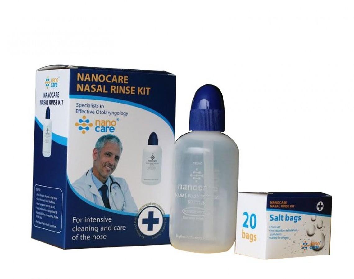 Bình Rửa Mũi Thẳng Nanocare Kèm 20 Gói Muối