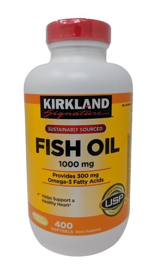 Dầu Cá Kirkland Signature 1000 Mg 400 Viên