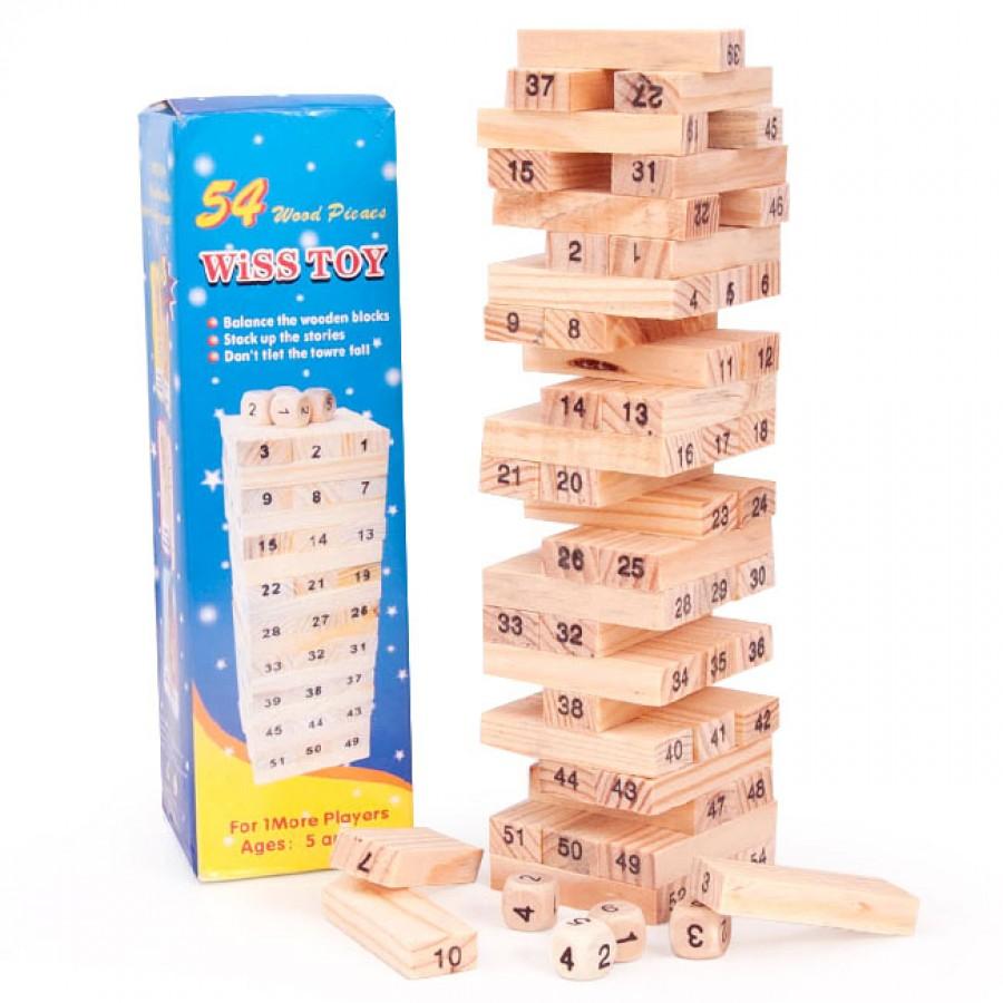 Đồ Chơi Rút Gỗ Wish Toy Cho Bé 54 Thanh