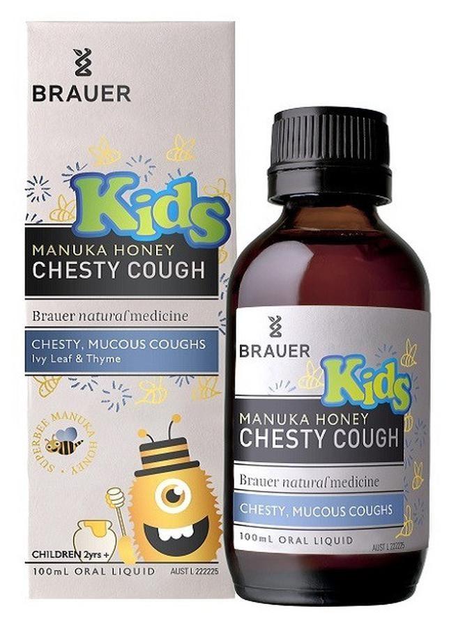 Siro Ho Brauer Kids Chesty Cough Cho Bé Từ 2 Tuổi