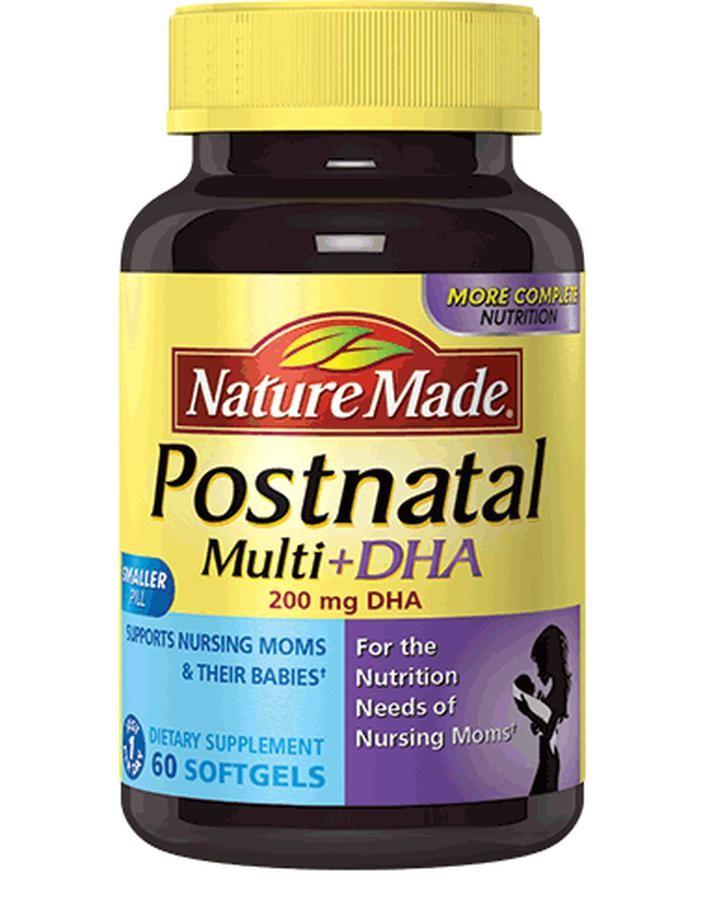 Viên Uống Vitamin Nature Made Postnatal Multi DHA Cho Phụ Nữ Đang Cho Con Bú