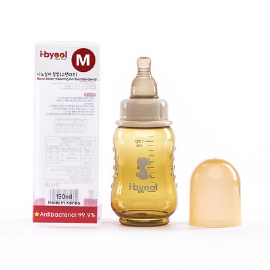 Bình Sữa I-Byeol Nano Silver Cổ Hẹp Nhiều Size 150ml