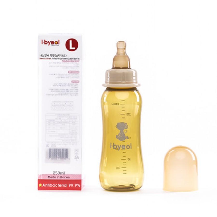 Bình Sữa I-Byeol Nano Silver Cổ Hẹp Nhiều Size 250ml
