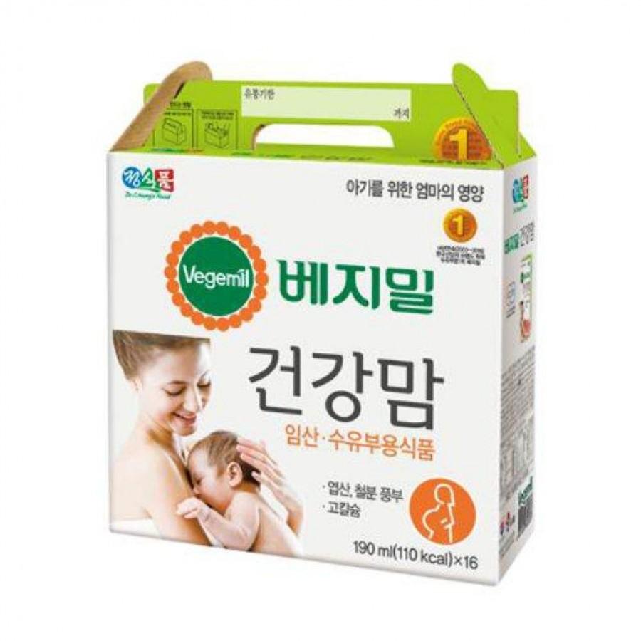 Sữa Hạt Vegemil Hàn Quốc Cho Mẹ Bầu Và Cho Con Bú (16 Hộp)