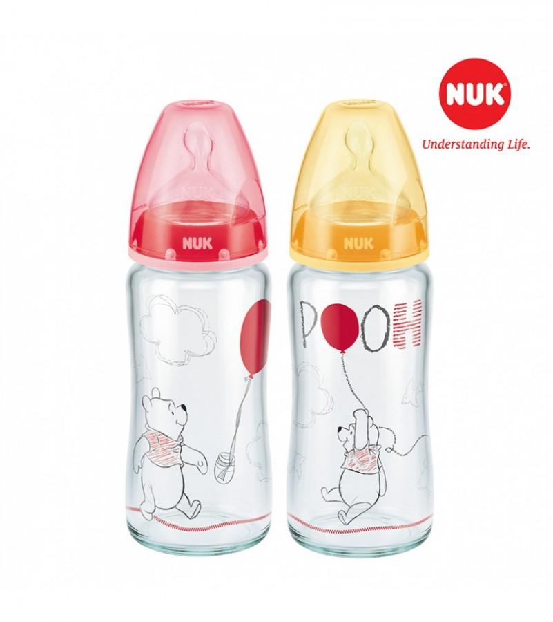 Bình Sữa Nuk Premium Choice+ Thuỷ Tinh Cổ Rộng Disney