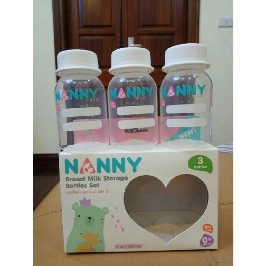 Set 3 Bình Trữ Sữa Nanny Thái Lan