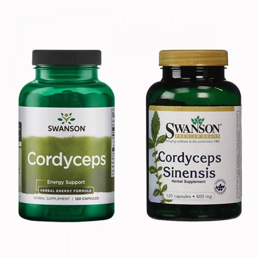 Đông Trùng Hạ Thảo Swanson Cordyceps 600mg Chính Hãng 120 Viên
