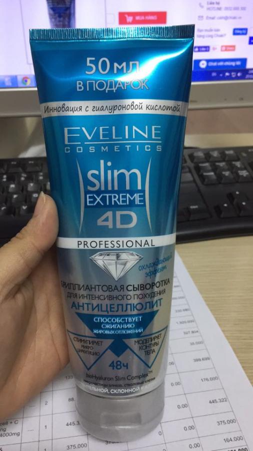 Kem Tan Mỡ Eveline Slim Extreme 4D Tinh Thể Kim Cương Cho Mẹ