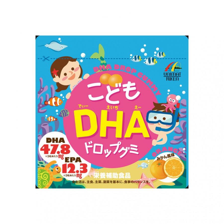 Kẹo Bổ Sung DHA Unimat Riken Cho Bé Từ 1 Tuổi Trở Lên