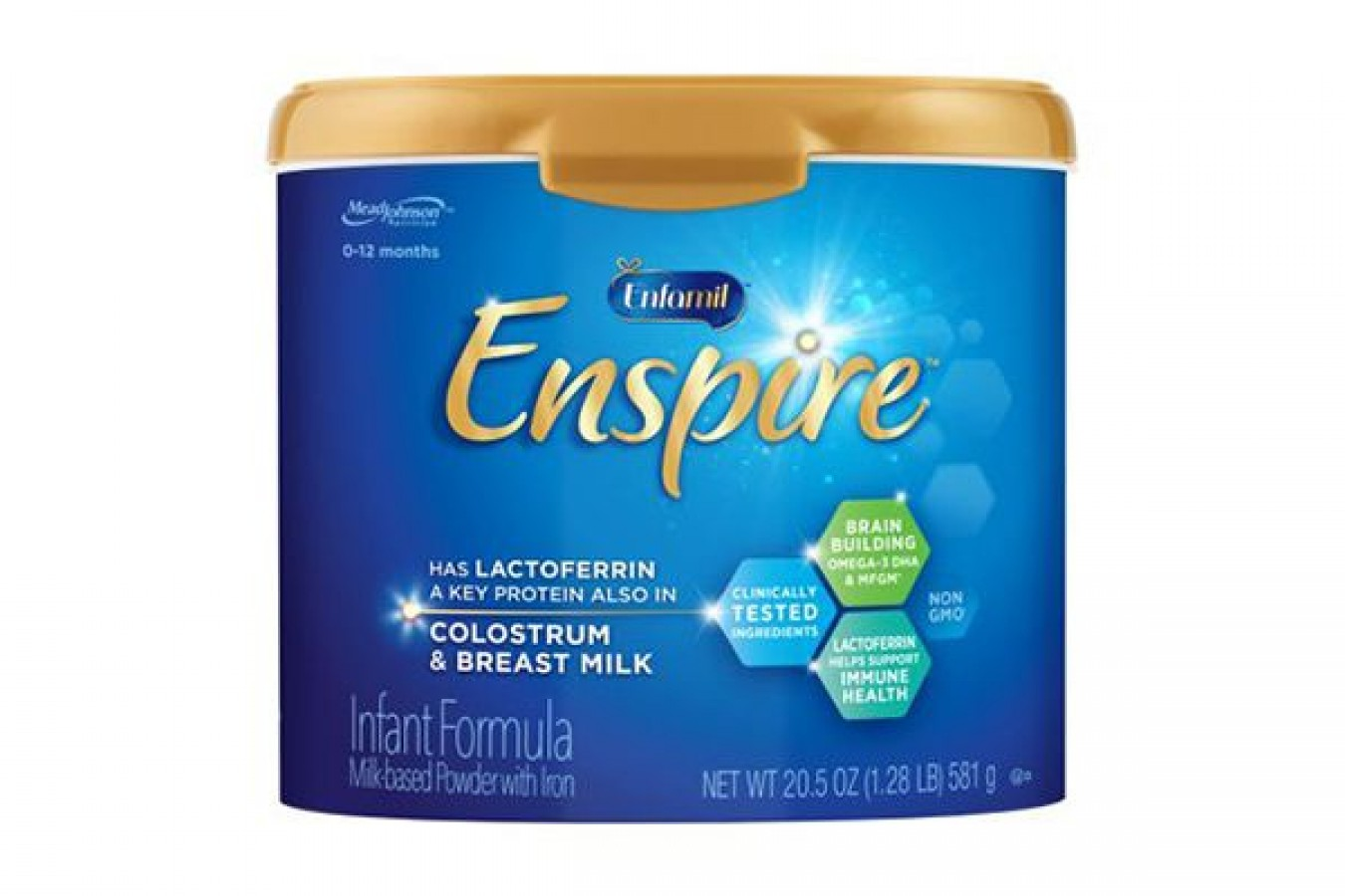 Sữa Enfamil Enspire Infant Non-GMO 581g Cho Bé 0-12 Tháng (Mẫu Mới)