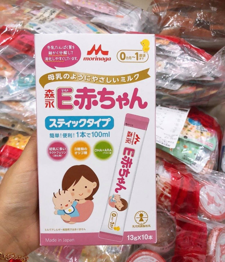 Sữa Morinaga E-Akachan Dạng Thanh Hộp Giấy