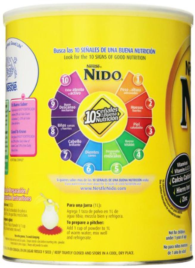 Sữa Nido Nắp Trắng Hỗ Trợ Tăng Cân Cho Bé Từ 1 Tuổi Trở Lên
