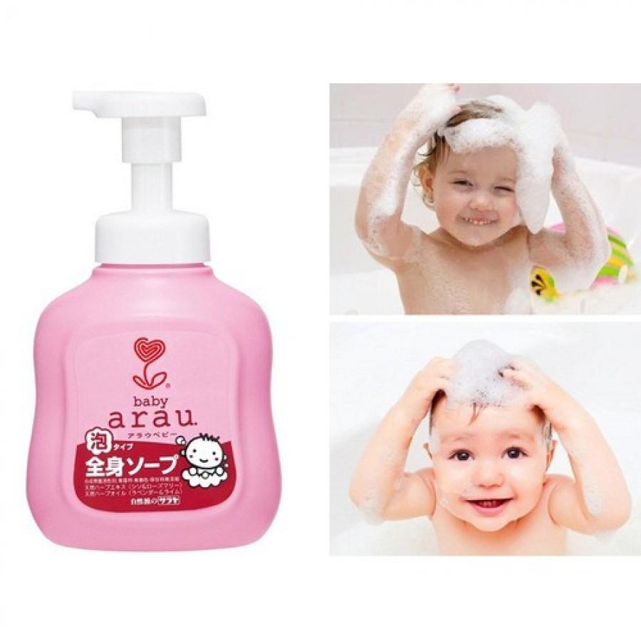 Sữa Tắm Gội Toàn Thân Arau Baby 450ml Cho Bé