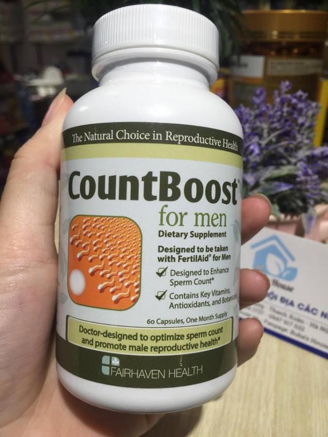 Viên Uống CountBoost For Men Cho Nam Giới Của Mỹ