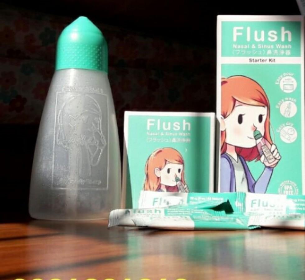 Bình Rửa Mũi Flush Thái Lan ( Kèm 14 Gói Muối Rửa )