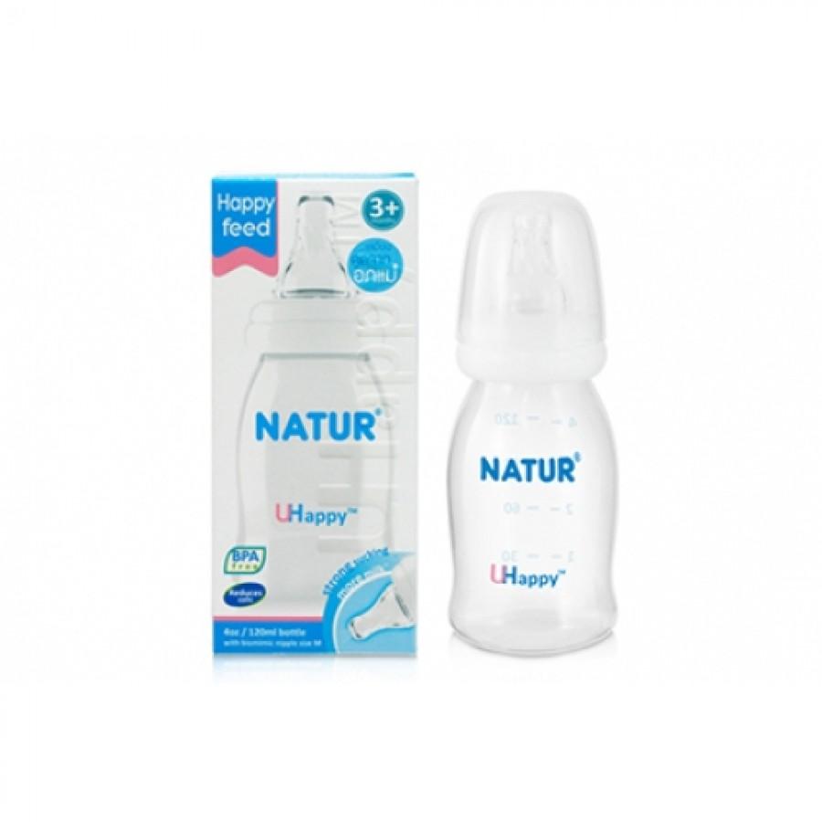 Bình Sữa Natur Uhappy Cổ Hẹp Cho Bé Từ 0M+