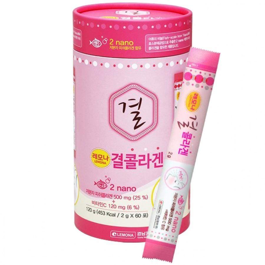 Bột Uống Hỗ Trợ Bổ Sung Collagen Lemona Hàn Quốc