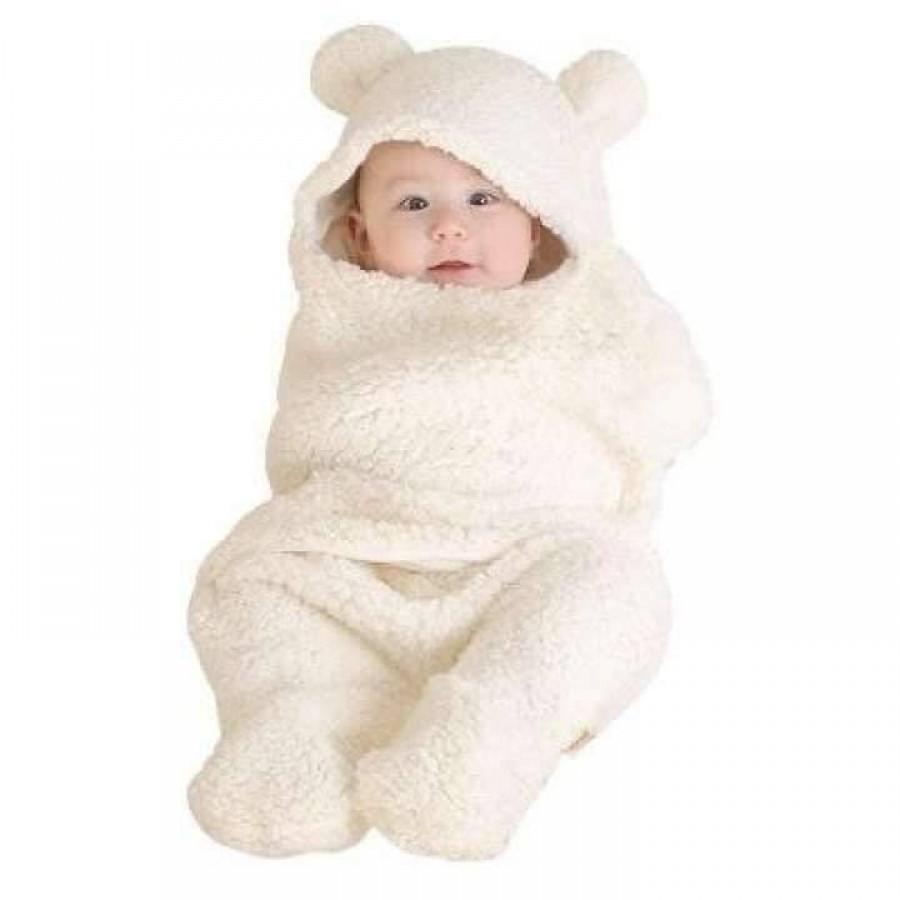 Chăn Quần Lông Cừu Ủ Kén Baby Blanket Hình Thú