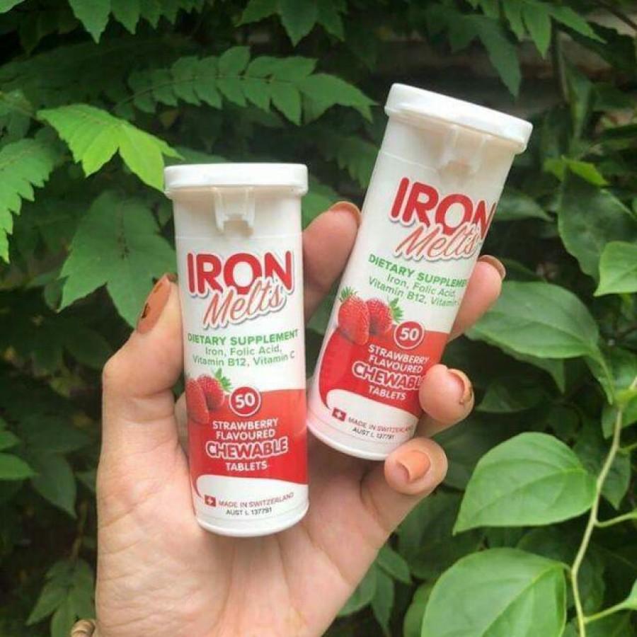Iron Melts Viên Uống Hỗ Trợ Bổ Sung Sắt, Acid Folic,và Các Vitamin Khác