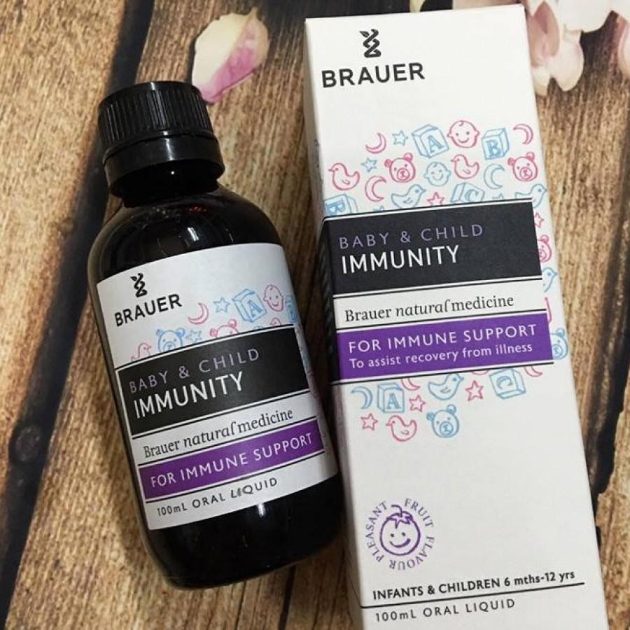 Siro Brauer Immunity Support Hỗ Trợ Tăng Sức Đề Kháng Cho Bé