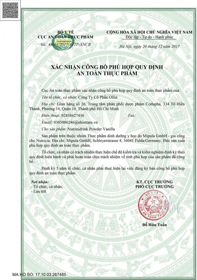 Sữa Bột NutriniDrink Vị Vani 400g Cho Trẻ Tăng Cân