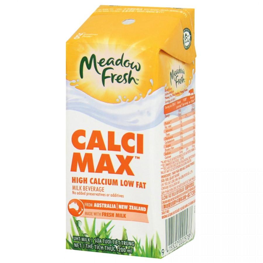 Sữa Tươi Meadow Fresh Max Bổ Sung Canxi Cho Bé Hộp 200ml